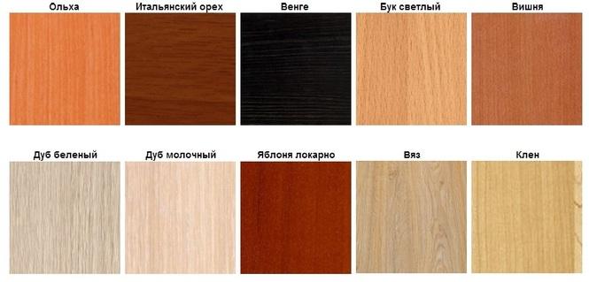 фото цвета древесины для мебели
