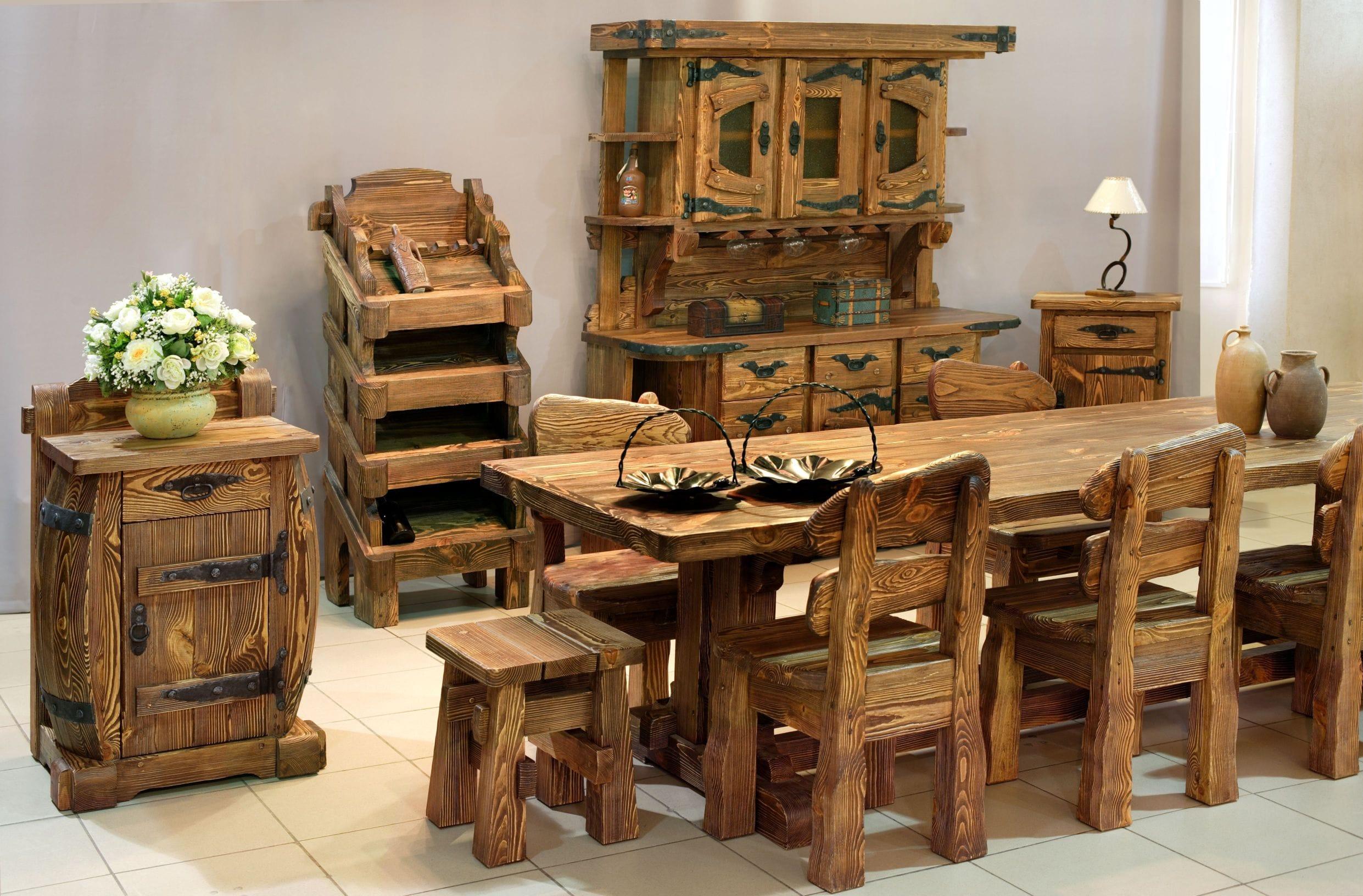 Эксклюзивные изделия из дерева под старину фото