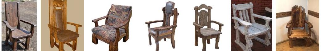Деревянные кресла - иллюстрация, фото, коллаж
