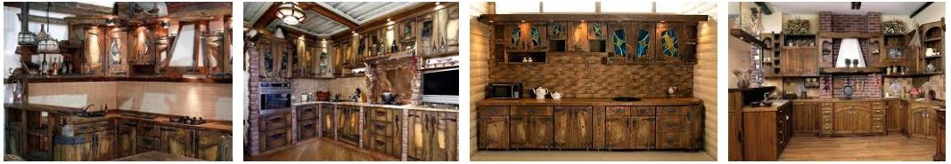 Кухни под старину из массива - иллюстрация, фото, коллаж