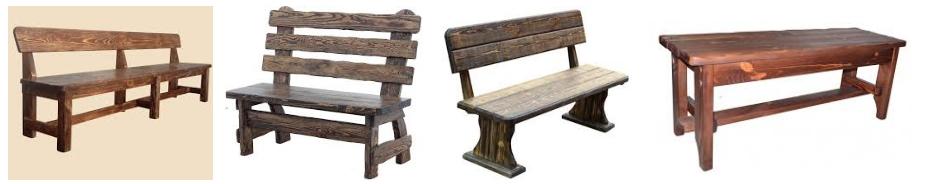 Состаренные лавки и скамейки - иллюстрация, фото, коллаж