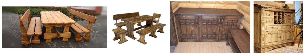 Мебель под старину для бани, фото