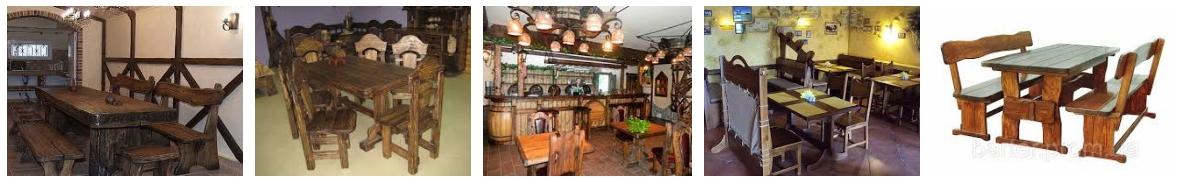 Мебель для кафе и ресторанов под старину, фото