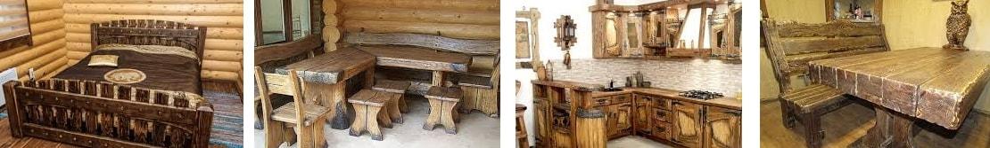 Мебель под старину- иллюстрация, фото, коллаж