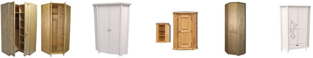 Угловые шкафы из массива сосны, фото