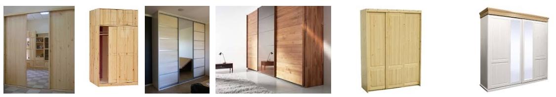 Шкафы-купе из массива сосны, фото
