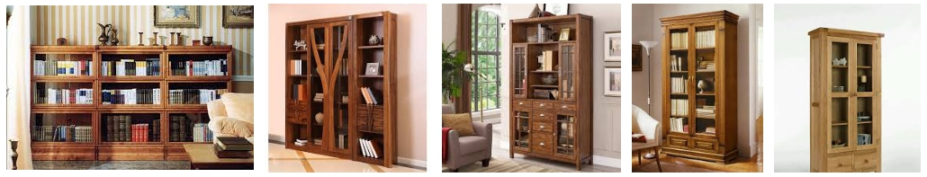 Книжные шкафы из массива дерева