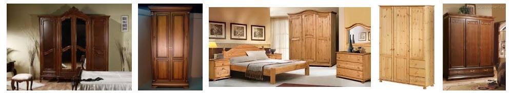 Шкафы из массива дерева для спальни, фото