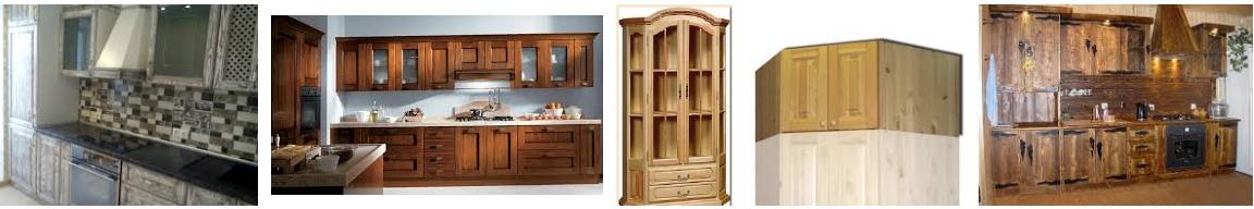Шкафы из массива дерева для кухни, фото