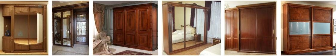 Деревянные шкафы-купе - иллюстрация, фото, коллаж