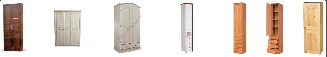 Шкафы-пеналы из массива сосны, фото