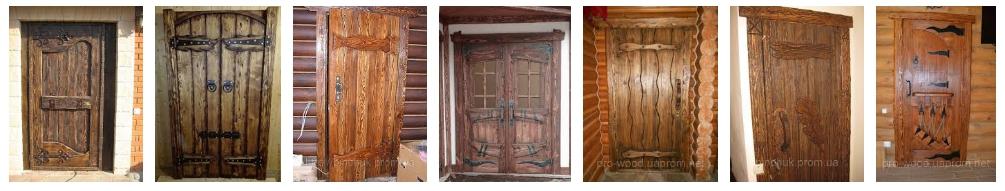 Двери под старину- иллюстрация, фото, коллаж
