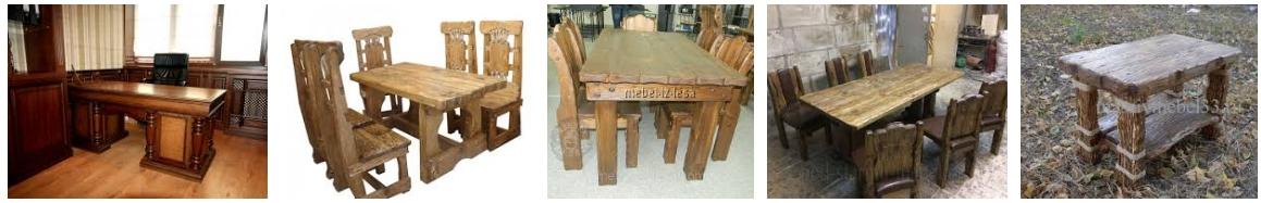 Столы под старину из сосны, фото
