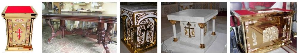Столы для церкви - иллюстрация, фото, коллаж