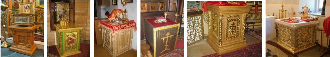 Жертвенники для церкви - иллюстрация, фото, коллаж